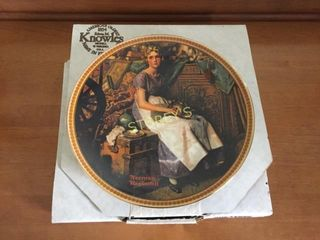 Norman Rockwell Collectors Plate w  Certificate