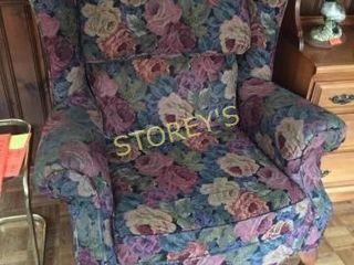 Floral Cushioned Arm Chair