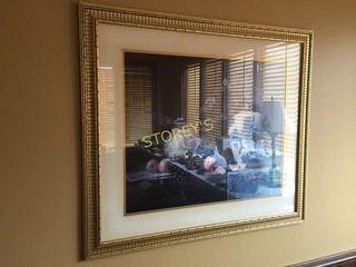 Framed Vase Picture   34 x 30
