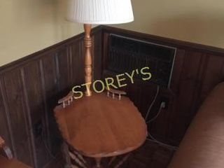 Vintage Side Table w  lamp