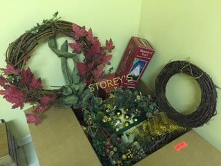 Box of Asst Christmas Decorations