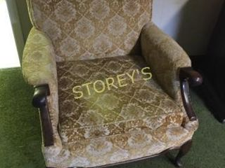 Gold Cushioned Arm Chair