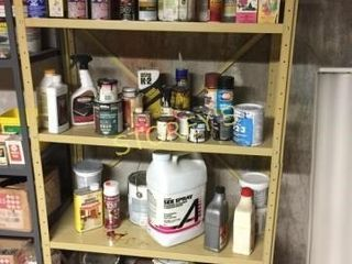 Qty of Paints  Cleaners  Oils  Sprays  Etc