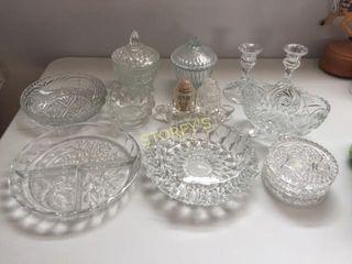 Crystal Salt   pepper  Coasters  Sugar Bowls