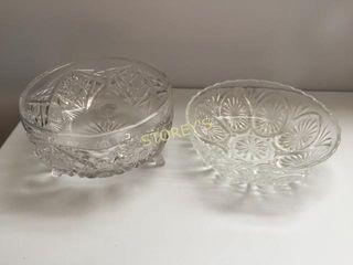 2 Crystal Serving Bowls