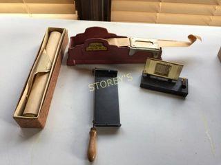 Antique Paper Cutter  Packager  Pen Holder  Etc