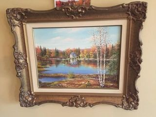 Framed Oil Painting   22 x 18
