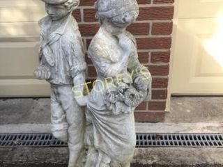 Boy   Girl Garden Statue