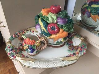 Fitz   Floyd Platter  Creamer   Vegetable