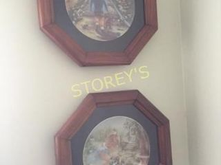 Pair of Framed Collectors Plates