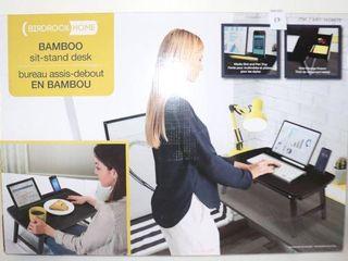 BIRDROCK HOME BAMBOO SIT STAND DESK