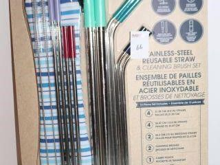 13PIECE MANNA STAINlESS STEEl REUSABlE STRAW