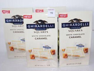 lOT OF 4X252 8G GHIRARDEllI WHITE CHOCOlATE