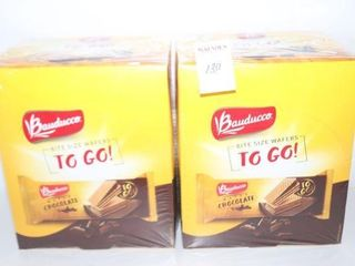 lOT OF 2 BAUDUCCO CHOCOlATE WAFERS BB  12 15 20
