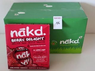 lOT OF 12X4X35G NAKD BERRY DElIGHT BAR BB