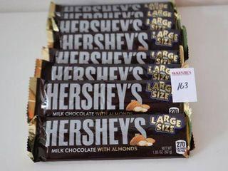 lOT OF 8X52G HERSHEY S MIlK CHOCOlATE WITH