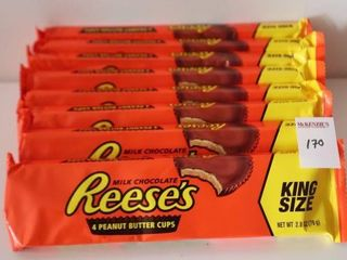 lOT OF 8X79G REESE S CHOCOlATE BARS KING SIZE BB