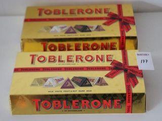 lOT OF 2 TOBlERONE GIFT SETS BB  12 08 2020