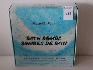 9PACK NATURAllY VAIN BATH BOMBS