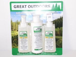 3PACK GREAT OUTDOORS INSECT REPEllENTS