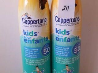 2PACK COPPERTONE SPRAY SUNSCREEN SPF 50