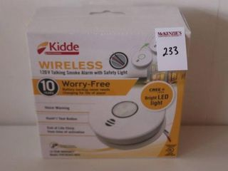 KIDDE WIRElESS 120V TAlKING SMOKE AlARM WITH