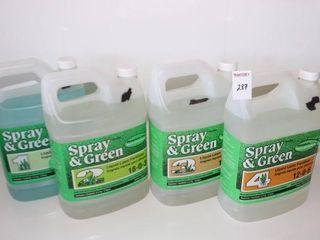 SPRAY   GREEN 4STEP lAWN CARE