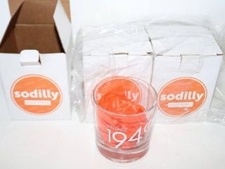 lOT OF 3 SODIllY GlASSES