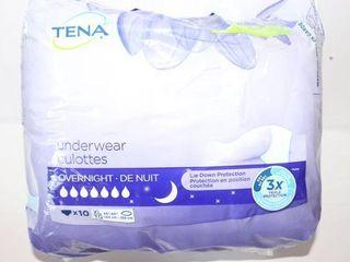 TENA OVERNIGHT Xl 55 66  10 UNDERWEAR