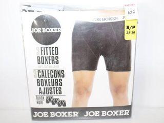 3PACK JOE BOXERS MENS SIZE SMAll  28 30