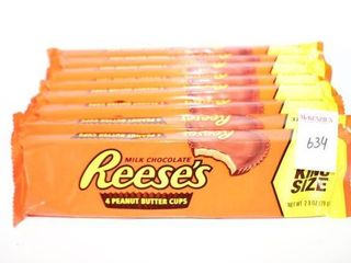 lOT OF 8 REESE S PEANUT BUTTER CUPS KING SIZE BB