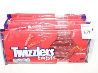 lOT OF 6 TWIZZlERS TWISTS CANDY 141G BB  11 2020