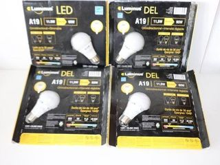 lOT OF 4 A19 lED OMNI DIRECTIONAl DIMMABlE lIGHT