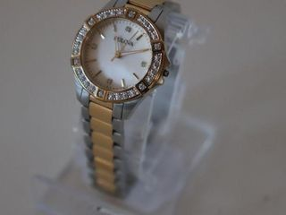 BUlOVA TWO TONE DIAMOND ACCENTED WATCH   MISSING