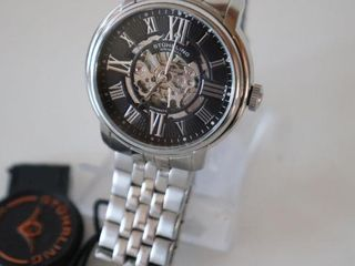 STURHlING AUTOMATIC SKElETON WATCH   NOT RUNNING