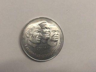 APOllO 11 FIRST MEN ON THE MOON AlUMINUM COIN