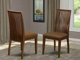 IPC Ipswich Dining Chair w  Fabric Upholstered Seats SET OF 2