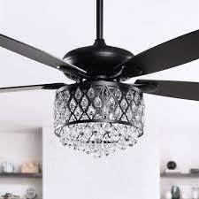 4 light Crystal 5 Blade Ceiling Fan w  Remote