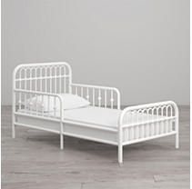 Monarch Hill Kids Ivy Metal Toddler Bed   White   little Seeds