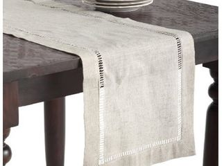 16in x 90in Toscana Table Runner light Brown   Saro lifestyle