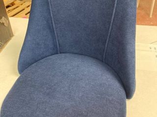 Blue upholstered side chairs