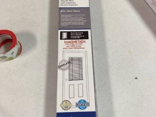 Magne Blind 1 Inch Magnetic Blind White Fits 25 In X 42 In 0924754 Cordless