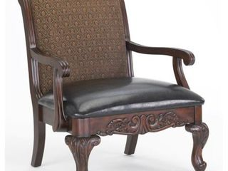 Stetson Carved Brown Accent Chair by Greyson living   Retail 391 99