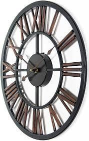 Micro Fusion Metal Roman Numeral Open Face 13 75 inch Wall Clock by Infinity Instruments