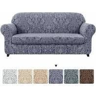 Subrtex 3 piece Separate Couch Cover Jacquard Damask Stretch loveseat