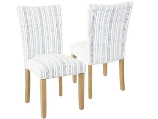 HomePop Classic Parsons Dining Chair   Set of 2  Retail 186 99
