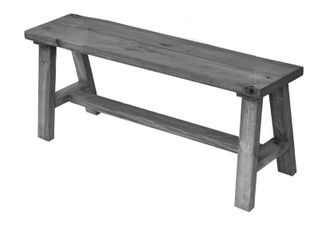 Handmade Classic Simple Sophistication Solid Wood Bench  Retail 146 49