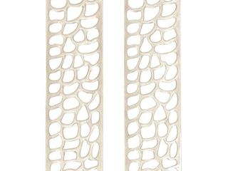 Studio 350 Aluminum Wall Decor Set of 2  9 inches wide  32 inches high  Retail 99 99