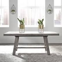 INCOMPlETE The Gray Barn Oriaga Farmhouse Trestle Dining Table  Retail 454 49