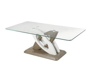Glass Top Only Brassex Donatello Brown Glass Sofa Table